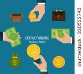 crowdfunding  icon design ... | Shutterstock .eps vector #330523742