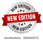 new edition 3d silver badge... | Shutterstock .eps vector #330534572