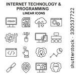 internet technology and... | Shutterstock .eps vector #330537722