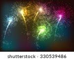 firework background | Shutterstock . vector #330539486
