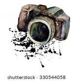 watercolour camera  | Shutterstock . vector #330544058
