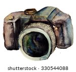 watercolour camera  | Shutterstock . vector #330544088