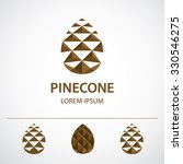 pine cone logo template ... | Shutterstock .eps vector #330546275