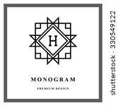 geometric monogram logo.... | Shutterstock .eps vector #330549122