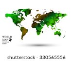 polygonal world map vector. | Shutterstock .eps vector #330565556