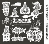 halloween set. typography... | Shutterstock .eps vector #330571376