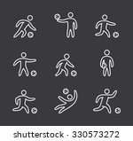 linear soccer icons set. linear ... | Shutterstock .eps vector #330573272