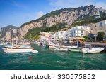 port of capri  italy. colorful... | Shutterstock . vector #330575852