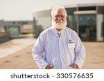portrait of smiling senior...   Shutterstock . vector #330576635