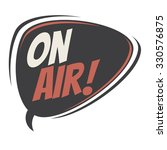 on air retro speech bubble | Shutterstock .eps vector #330576875