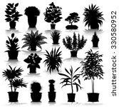 set of different plants and... | Shutterstock .eps vector #330580952