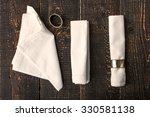 Set Of The Napkins With Vintage ...
