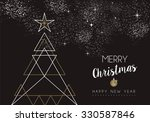 merry christmas happy new year... | Shutterstock .eps vector #330587846