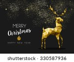 merry christmas happy new year... | Shutterstock .eps vector #330587936