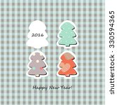 happy new 2016 year. colorful... | Shutterstock .eps vector #330594365
