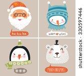 christmas  vector illustration. ... | Shutterstock .eps vector #330597446