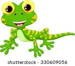 cute lizard cartoon | Shutterstock .eps vector #330609056
