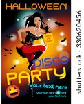 halloween party banner with a... | Shutterstock .eps vector #330620456