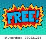 free comic book inscription pop ...
