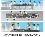 medical scientists  laboratory... | Shutterstock .eps vector #330629342