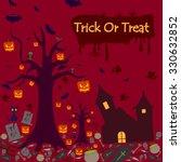 happy halloween holiday... | Shutterstock .eps vector #330632852