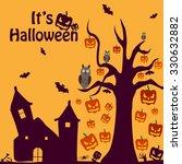 happy halloween holiday... | Shutterstock .eps vector #330632882