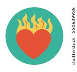 burning heart colored vector... | Shutterstock .eps vector #330639938