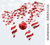 christmas decoration with snow... | Shutterstock .eps vector #330651116