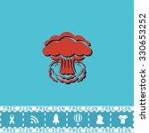 mushroom cloud  nuclear... | Shutterstock .eps vector #330653252