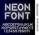 neon glow alphabet custom...   Shutterstock .eps vector #330654986