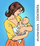 mother and newborn baby. family ...   Shutterstock .eps vector #330658856