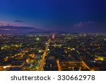 mexico city at night high... | Shutterstock . vector #330662978