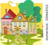 displaying tiny cartoon three... | Shutterstock .eps vector #330663512