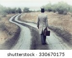 retro style man on the country... | Shutterstock . vector #330670175