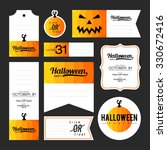 collection of halloween... | Shutterstock .eps vector #330672416