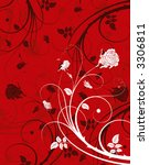 abstract floral background ...   Shutterstock .eps vector #3306811
