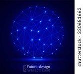 3d geometric vector sphere... | Shutterstock .eps vector #330681662
