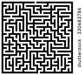 maze   labyrinth with entry and ... | Shutterstock .eps vector #330683786