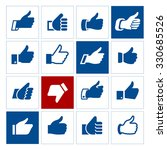 thumbs up  set icons. vector... | Shutterstock .eps vector #330685526
