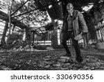 post apocalyptic survivor in...   Shutterstock . vector #330690356