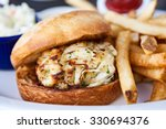 Crab Cake Sandwich On A Bun...