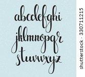 handwritten brush style modern... | Shutterstock .eps vector #330711215