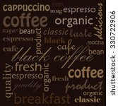 coffee illustration with words | Shutterstock .eps vector #330722906