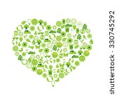 ecological heart | Shutterstock .eps vector #330745292
