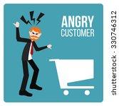 angry customer illustration... | Shutterstock .eps vector #330746312