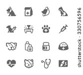 Stock vector simple set of pet vet related vector icons for your design 330756596