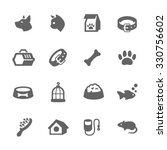 Stock vector simple set of pets related vector icons for your design 330756602