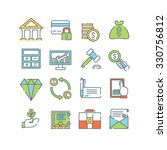 a set of various finance icons  ...   Shutterstock .eps vector #330756812