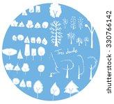 set of tree doodles | Shutterstock .eps vector #330766142