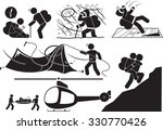 accidents caused by climbing... | Shutterstock .eps vector #330770426